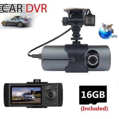 2.7 Inch Car Camera DVR Video Recorder Dash Cams Dual Lens GPS With 16G SD Card