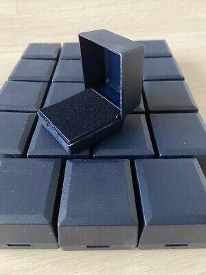 12 WHOLESALE JOBLOT BLACK CHAIN RING JEWELLERY GIFT BOX/'S