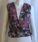 ANTHROPOLOGIE LUX Urban Outfitters NWT Black Pink Floral Sheer Blouse Top XS