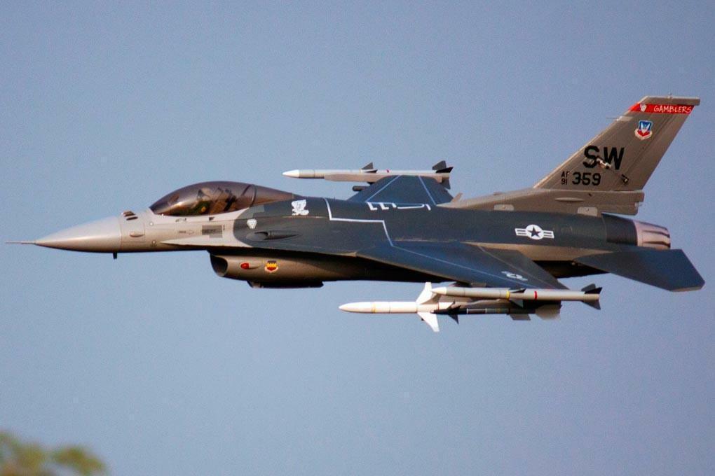 gratuitowing F-16C Super Scale 90mm EDF EDF EDF Jet - PNP 438733