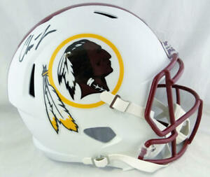 Chase-Young-Autographed-Washington-F-S-Flat-White-Speed-Helmet-Fanatics-Auth