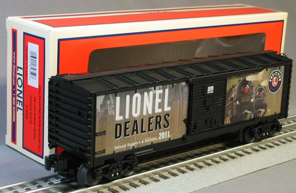 LIONEL 2011 DEALERS APPRECIATION BOXCAR limited edition train 6-34359 NEW