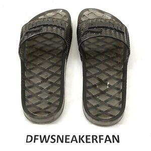 Puma X Fenty By Rihanna BLACK CLEAR ️Jelly Slip On Slides Sandals ... 68ae0885c