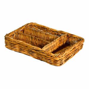 Wicker-Cutlery-Storage-Holder-Basket-Kitchen-Cafe-Deli-Wire-Frame-High-Quality