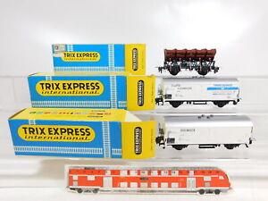 Ca930-0-5-3x-TRIX-h0-dc-wagons-DB-3655-3673-3675-axes-changent-neuf-dans-sa-boite