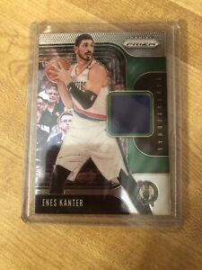2019-20 Prizm Sensational Swatches Game-Worn Jersey Relic Enes Kanter Celtics