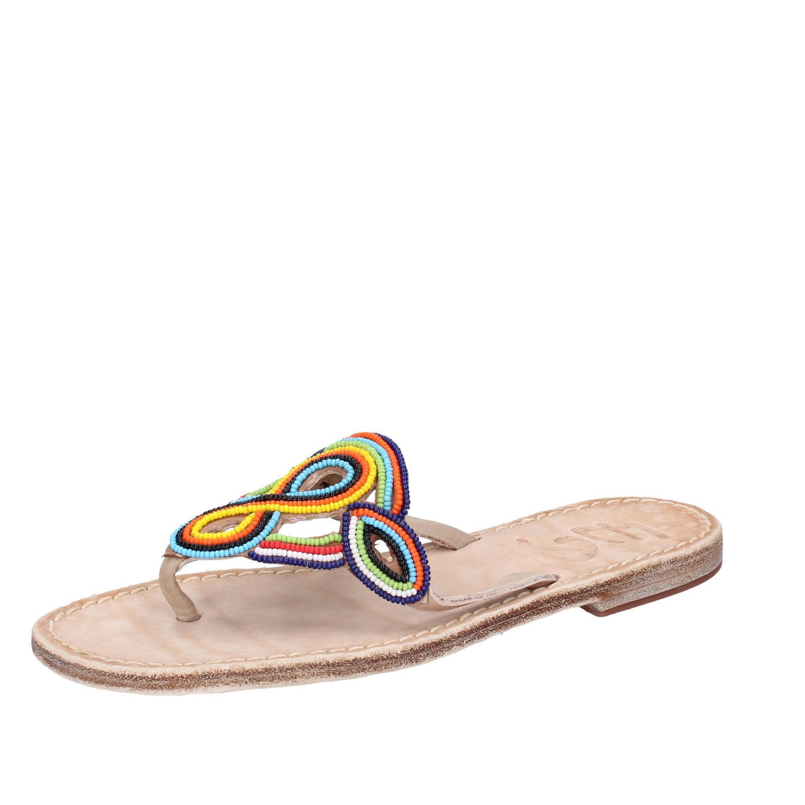Damens's schuhe EDDY DANIELE 7 (EU 37) Sandale multicolor Leder AV408
