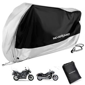 2XL-Silver-Waterproof-Outdoor-Motorcycle-Cruise-Scooter-Motor-Bike-Rain-Cover