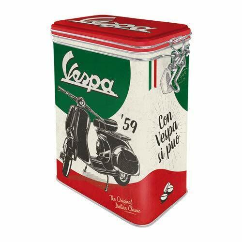 The italian classic Aroma Vorratsdose Küchendose Blechdose Blech DOAR10 Vespa