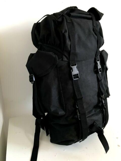 Brandit 65L Bw German Army Combat Backpack Security Police Nylon Rucksack Black
