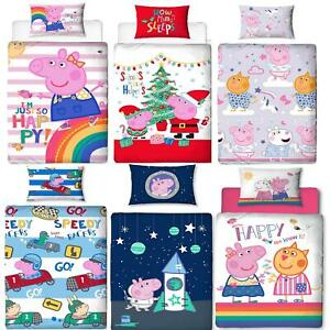 Oficial-Peppa-Pig-George-fundas-nordicas-SINGLE-doble-Ropa-De-Cama-Reversible