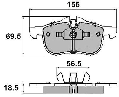 MG ZT-T 01 /> Set of EB Front Brake Pad/'s to fit MG MG ZT 01 Roewe Roewe 07 />