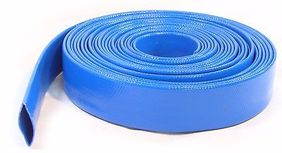 30Ft of Layflat Water Delivery Hose Discharge Pipe Pump Irrigation Blue Tubing