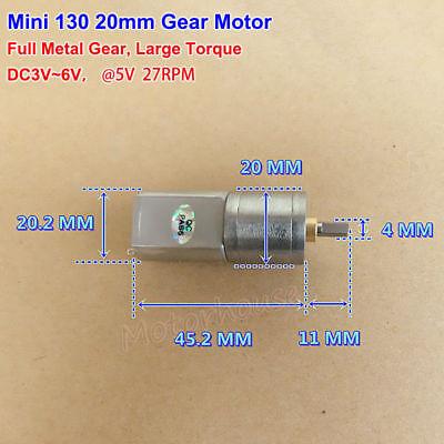 DC 6V 220RPM Mini Electric Metal Gear Motor Speed Reduction Long Shaft DIY Robot