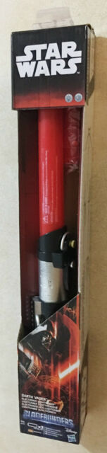 Star Wars Darth Vader Bladebuilders Red Electronic Lightsaber Age 4+ New Toy