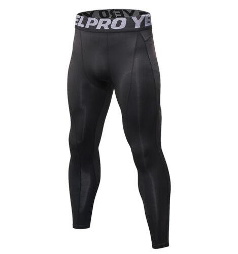 Men/'s Athletic Running Compression Leggings Gym Spandex Skin Base Layers Plain