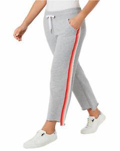 Calvin-Klein-Performance-Womens-Plus-Varsity-Stripe-Sweatpants-3X-Orange