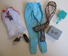 Hannah Montana Doll Miley Cyrus Clothes Fashion HM Tennis Shirt Blue Pants Shoes