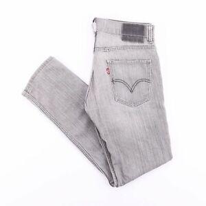 Vintage-Levi-039-s-511-Gris-Slim-Coupe-Droite-Homme-Jeans-W31-L30