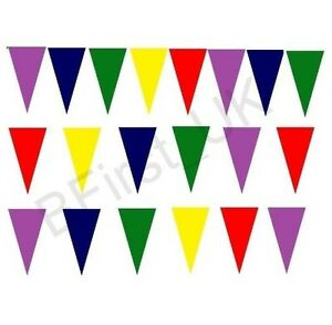 20-Pennant-Flags-Multi-Coloured-Bunting-Plastic-Banner-Party-Decoration-Outdoor
