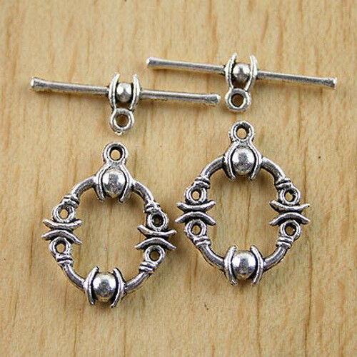 16sets Tibetan Silver Toggle Clasp H0548