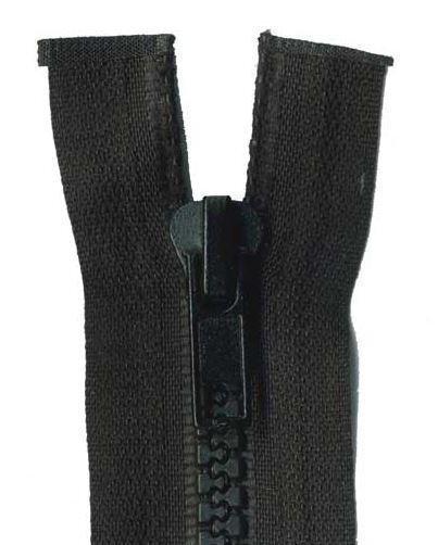 60cm Black Open End Chunky Zip