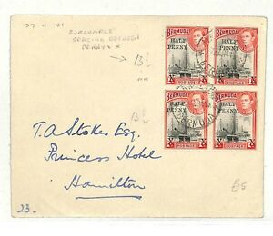 AB147 1941 Bermuda Hamilton Cover {samwells-covers}PTS