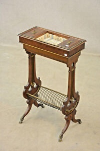 Antique-Napoleon-III-Sewing-working-table-wood-carved-1850
