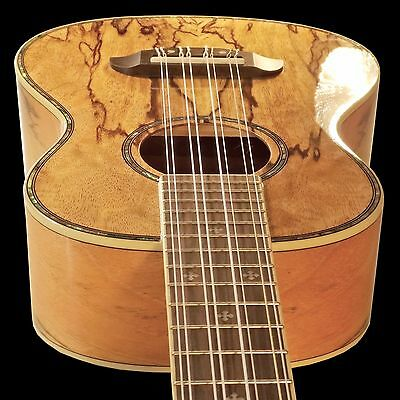 Oscar Schmidt 33-OU78T Custom 8 String Tenor Ukulele Select Spalted Mango Aquila