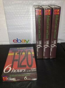 Sealed-Blank-VHS-Tapes-6-Hours-EP-Brilliant-Color-amp-Sound-LDK-T-120-Lot-of-4