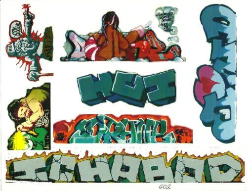 G SCALE GRAFFITI DECALS G02 FROM REAL GRAFFITI PHOTOS ICH ICHABOD