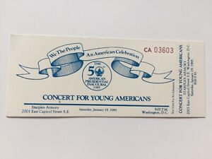 1985-President-Ronald-Reagan-Inauguration-Concert-for-Young-Americans-Ticket