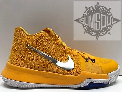 online store 01190 2ebac NIKE KYRIE 3 GS MAC & CHEESE WARRIORS YELLOW BLUE WHITE ...