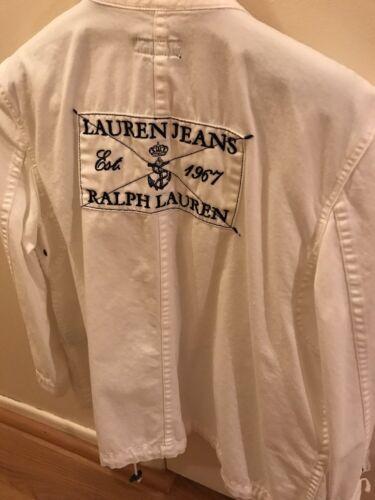 190232129645 Ralph Blouson Femmes Taille Lauren L Blanc Jean 0rp0S