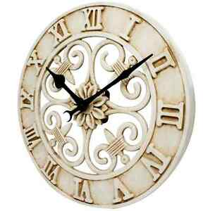 Cast Iron Antique Style Wall Clock Rustic Indoor Outdoor