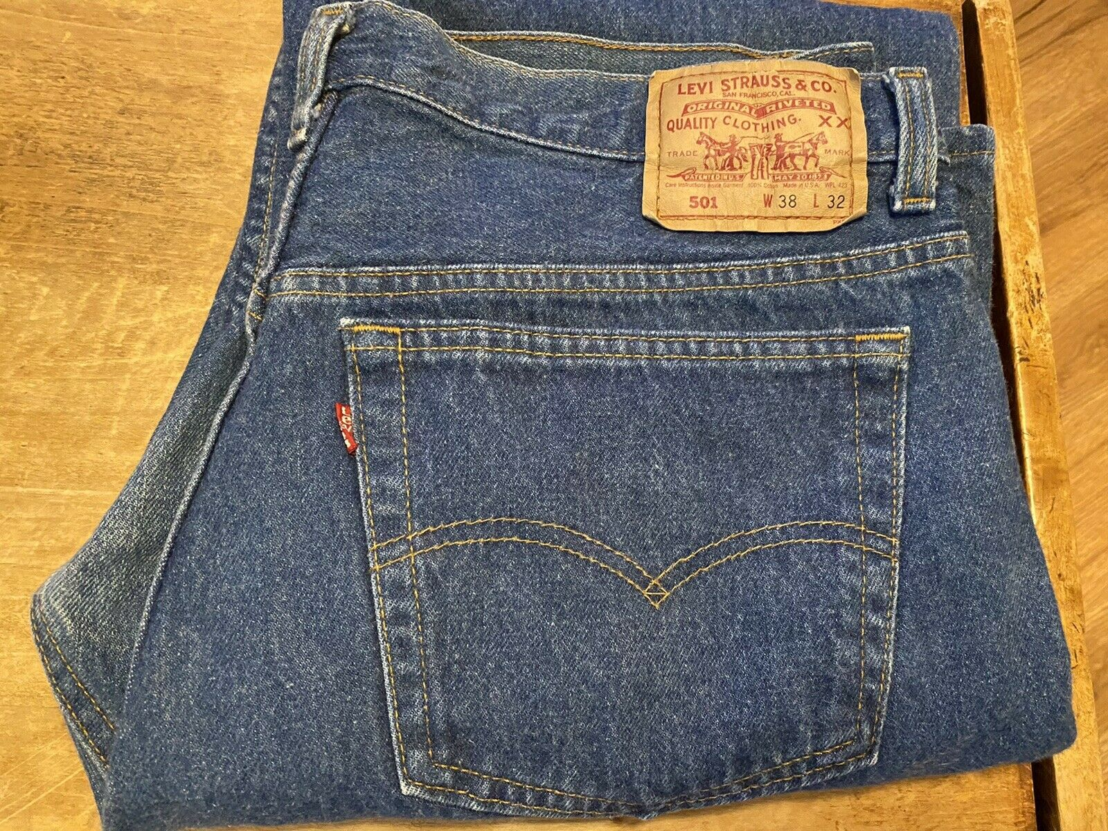 vintage levis 501 made in usa 38x32 never worn - image 2