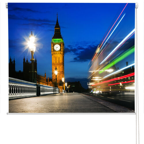 Printed roller blind of the Houses of Parliament at night  Any Größe
