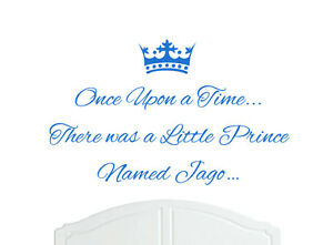 Once Upon a Time Prince Jago Wall Sticker Decal Bed Room Nursery Art Boy/Baby