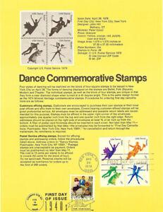 USPS-Souvenir-Page-7809-Dance-1749-52-w-Jitterbug-CTC-w-FDC