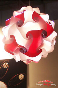 Offerta Illuminazione Novita Lampadario Di Design Camera Da Letto 35 Cm Rosso Ebay