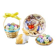 Reutter Porzellan Osterhase mit Eiern / Peter Rabbit Easter Set Puppenstube 1:12