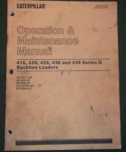 Details about CAT CATERPILLAR 416 426 428 436 438 BACKHOE II OPERATION  MAINTENANCE BOOK MANUAL