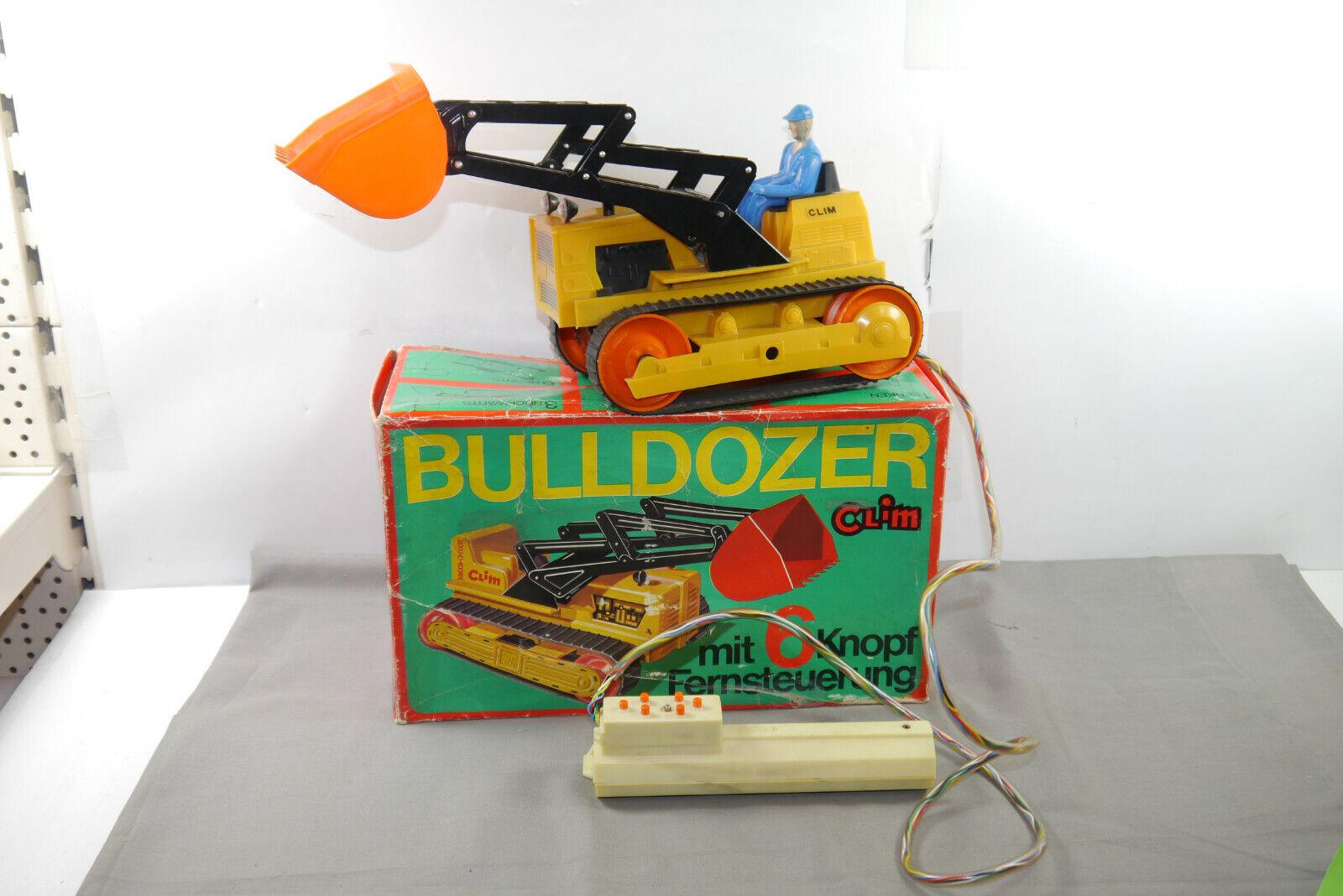 Bulldozer Clim con Couomodo a Distanza Dickie 6070er Anni No. 3712050  scatola