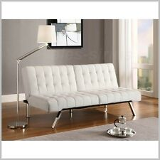 Buchannan Faux Leather Sofa 3 Seat Couch Modern Living Room
