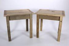 2 Brassfield Originals Oak Barnwood End Tables Weathered Wood Primitive Style