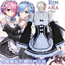 Lovely Anime Re:ZERO Starting Life in Another World Cosplay +Blue wig loli Skirt