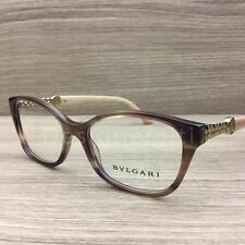 Bvlgari 4109-B 4109 B Eyeglasses Brown Turtledove Gold 5240 Authentic 52mm 327f48095df