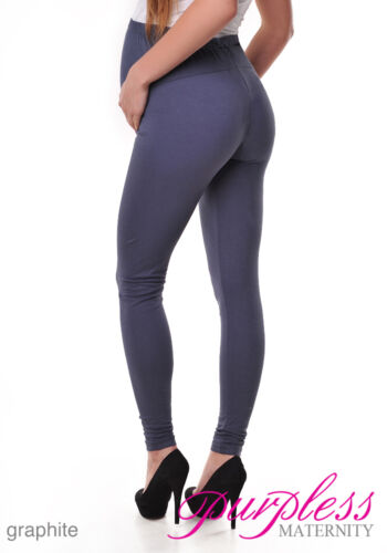 New Stretchy Maternity Leggings Over Bump Full Length Size 8 10 12 14 16 18 1050