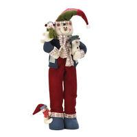 Christmas Tall Standing Snowman Porch Door Greeter Plush