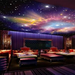 Details About Night Sky Ceiling Wallpaper 3d Star Nebula Galaxy Theme Murals For Wall Covering